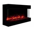 "Indoor Electric Fireplace Luxury Amantii Tru View 40"" Indoor Outdoor 3 Sided Electric"