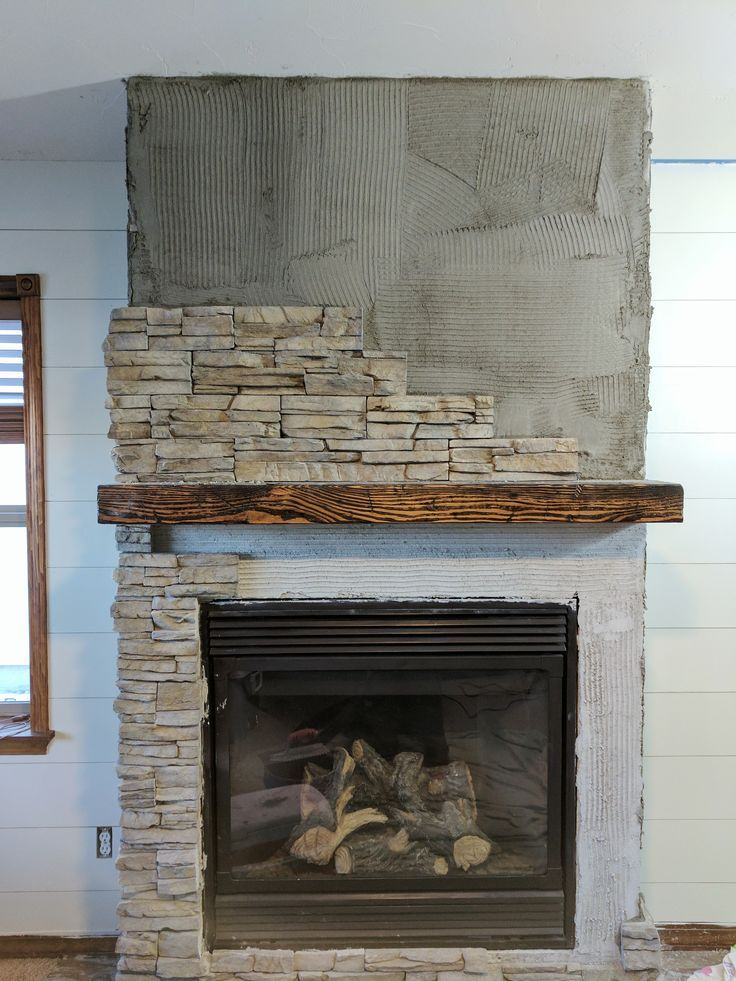 Install Stacked Stone Fireplace Beautiful How We Transformed Our Ugly Fireplace Using Stacked Stone