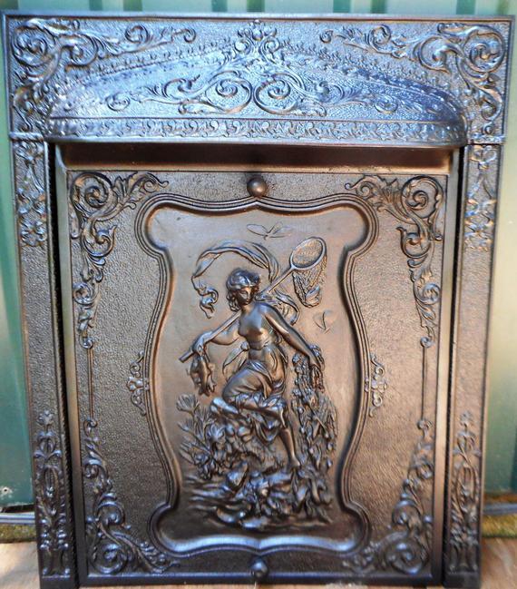 Iron Fireplace Grate Fresh Antique Victorian Art Nouveau Cast Iron Fireplace Grate