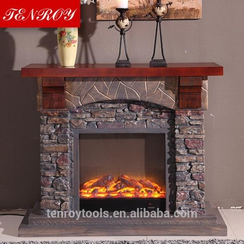 Imitation stone grates fireproof material fireplace mantels 350x350