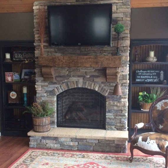 "Large Fireplace Mantels Unique Fireplace Mantel 68"" Chunky Rustic Hand Hewn solid Pine 8 by"