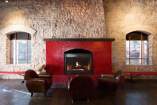 fireplace sitting