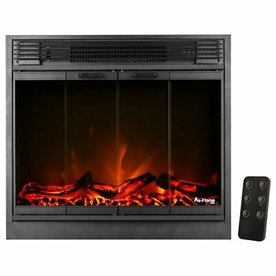 LED Electric Fireplace Stove Insert with Remote Control