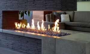28 Elegant Linear Fireplace