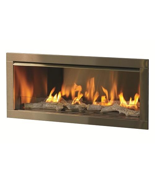 "Linear Gas Fireplace Insert Luxury Firegear Od42 42"" Gas Outdoor Vent Free Fireplace Insert"