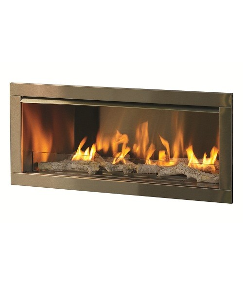 "Linear Gas Fireplace Reviews Unique Firegear Od42 42"" Gas Outdoor Vent Free Fireplace Insert"