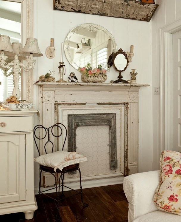 faux fireplace ideas faux fireplace chalk painted living room chippy shabby chic of faux fireplace ideas