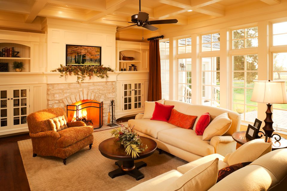 Classic living room with fireplace 582e650d3df78c6f6a861d30