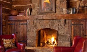 25 Awesome Log Cabin Fireplace