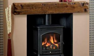 12 Beautiful Log Fireplace