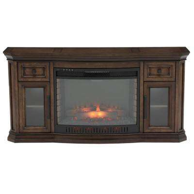 Lowes Electric Fireplace Tv Stands Lovely Georgian Hills 65 In Bow Front Tv Stand Infrared Electric Fireplace In Oak