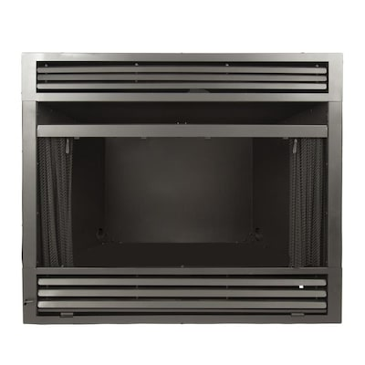 Lowes Gas Fireplace Inserts Inspirational Pleasant Hearth 42 19 In W Black Vent Free Gas Fireplace