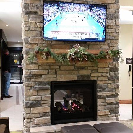 2 way fireplace is beautiful
