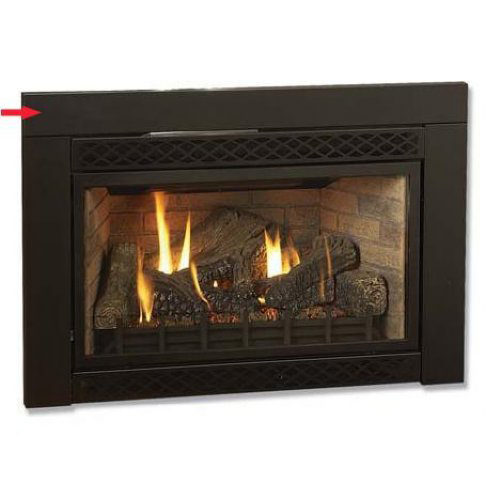 black flat 46 in w x 32 in h surround for majestic 380idv fireplace insert 29