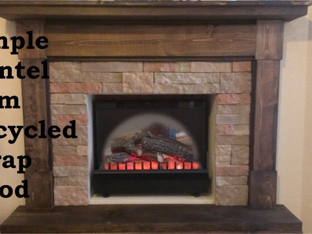 how to make a fake fire for a faux fireplace building a fireplace mantel from scrap wood youtube of how to make a fake fire for a faux fireplace