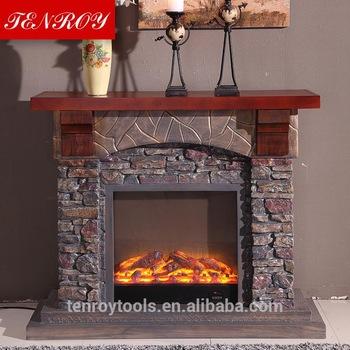 Imitation stone grates fireproof material fireplace mantels 350x350