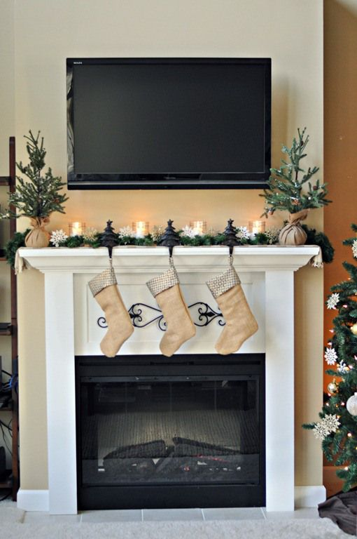 Mantle Fireplace Beautiful Easy Christmas Mantels Fireplaces