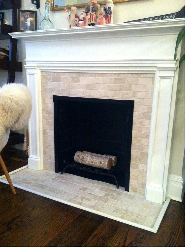 travertine tile fireplace tile for fireplace surround and hearth with white mantle would want more craftsman type mantle