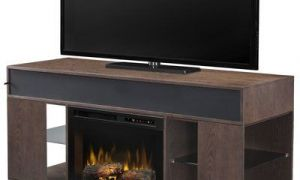 30 Fresh Media Stand with Fireplace