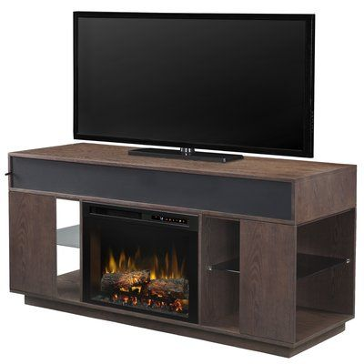 "Media Stand with Fireplace Inspirational Dimplex soundbar and Swing Doors 64 125"" Tv Stand with"