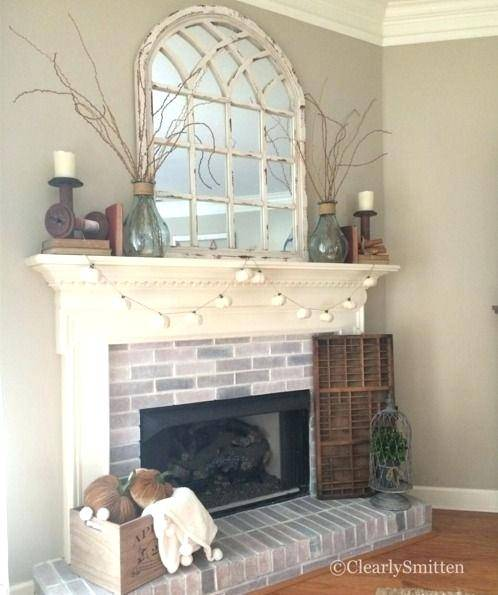 above fireplace ideas white arch mirror coastal style outdoor brick decorating awesome wall