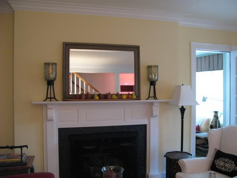 fireplace mirror above mantle your home