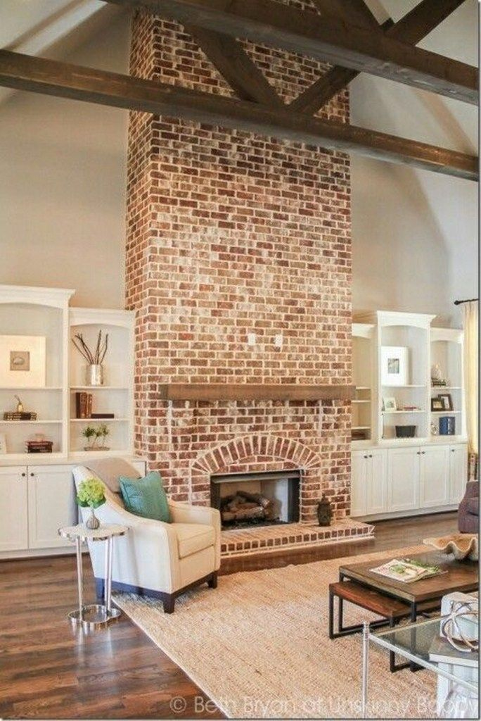 Modern Brick Fireplace New Modern Farmhouse Fireplace Ideas that You Should Copy
