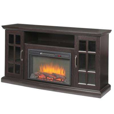 espresso home decorators collection fireplace tv stands 365 302 48 y 64 400 pressed
