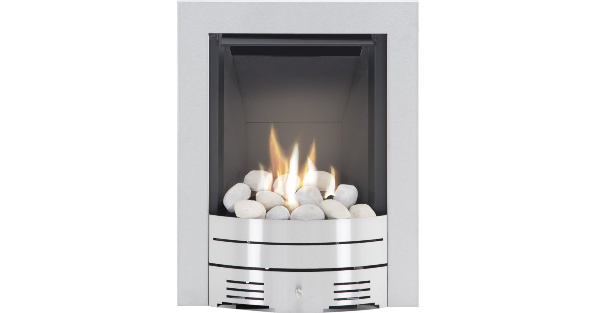 Modern Fireplace Hearth Inspirational the Diamond Contemporary Gas Fire In Brushed Steel Pebble Bed by Crystal