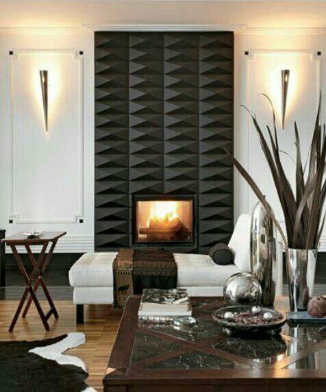 Modern Fireplace Wall Elegant 3d Tile Fireplace Salon Ideas In 2019