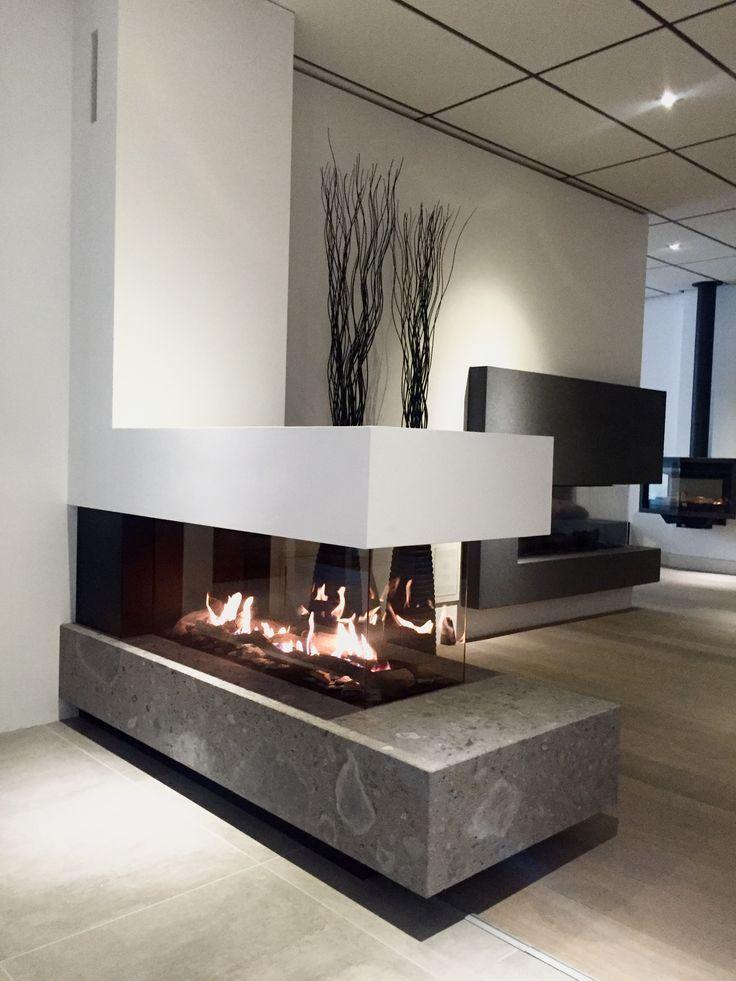 Modern Gas Fireplace Designs Beautiful Bellfires Room Divider Large Nice Designs