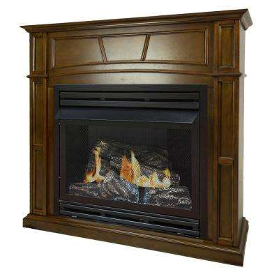 heritage oak pleasant hearth ventless gas fireplaces vff ph32ng h1 64 400 pressed