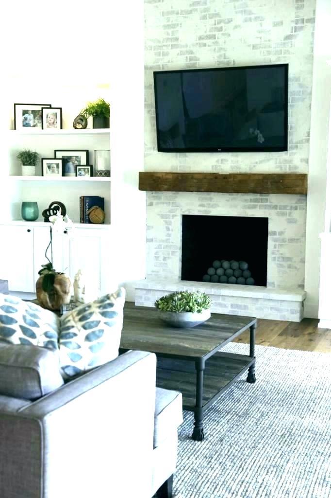 fireplace tv wall mount ideas