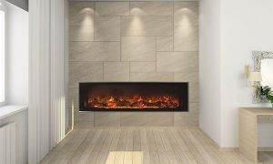 22 Luxury Narrow Electric Fireplace