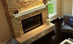 19 New Natural Stone Fireplace