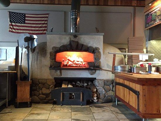 wood fire open kitchen