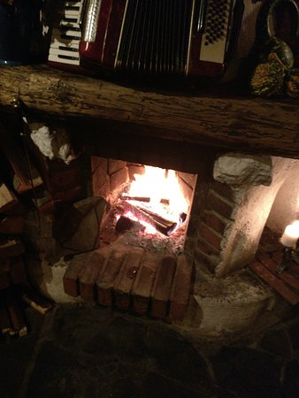 lovely open fire downstairs