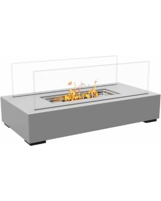 regal flame utopia ventless tabletop portable bio ethanol fireplace gray