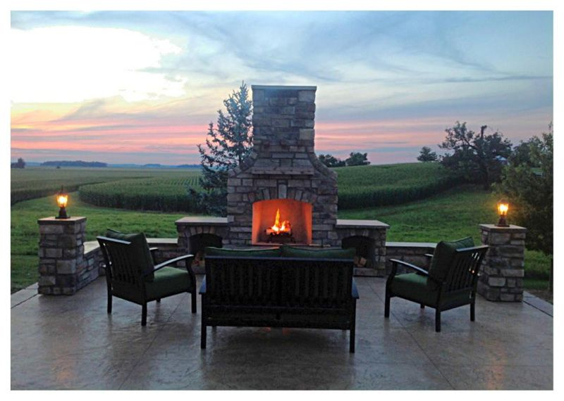 Outdoor Fireplace Box Awesome Outdoor Fireplace with Mantle Wood Boxes Hearth Seat