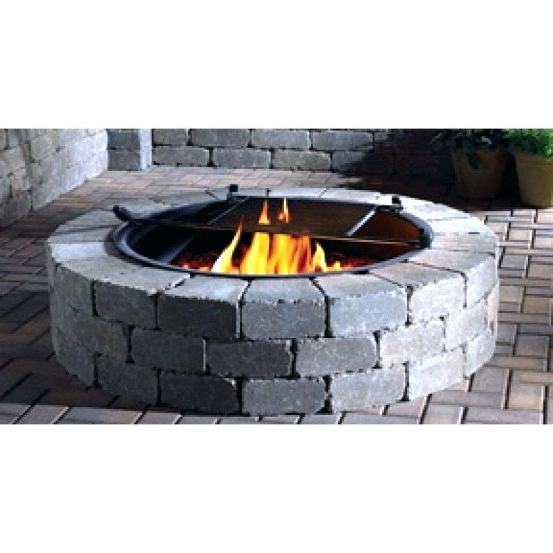 lowes fire pit kit image pd propane diy square gas