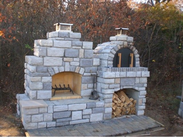 Outdoor Fireplace Pizza Oven Combo Luxury Wood Fired Outdoor Brick Pizza Oven and Outdoor Fireplace by