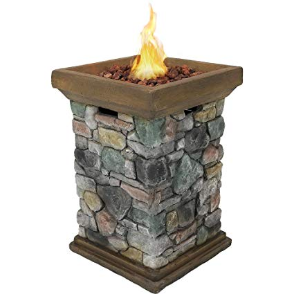 Outdoor Propane Fireplace Kits Awesome Sunnydaze Propane Fire Pit Column Outdoor Gas Firepit for Outside Patio & Deck with Cast Rock Design Lava Rocks Waterproof Cover and Steel