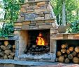 Outdoor Stone Fireplace Beautiful Unique Stacked Stone Outdoor Fireplace Re Mended for You