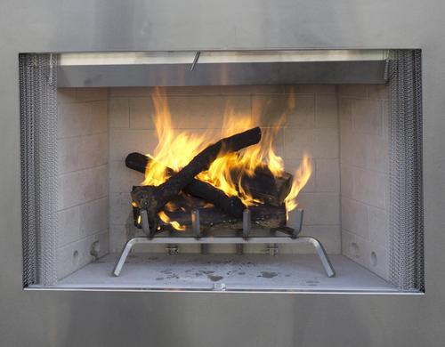 "Outdoor Wood Burning Fireplace Insert Luxury Superior™ 36"" Stainless Steel Outdoor Wood Burning Fireplace"