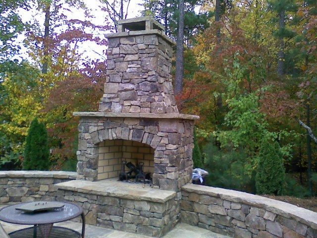 Outside Stone Fireplace Unique Fireplace Kits Outdoor Fireplaces and Pits