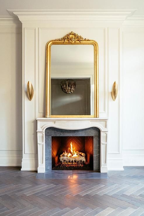 Oversized Fireplace Screens Unique Luxurious French Fireplace Design Displaying A Gold ornate