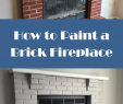 Painted Brick Fireplace before and after Luxury You Can Do It Learn How to Paint A Brick Fireplace with A