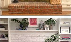 13 Unique Painted Brick Fireplace White