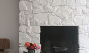 25 Unique Painted Stone Fireplace