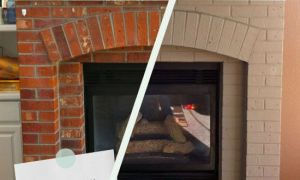 29 Awesome Painting Brick Fireplace White